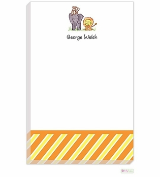personalized - zoo friends notepad