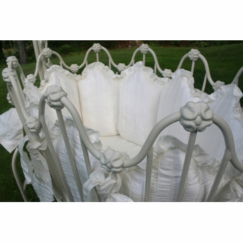 pintuck scalloped cradle linens