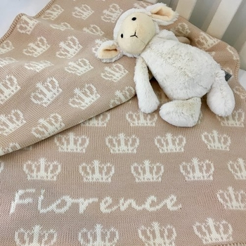 princess crown baby blanket (several colors available)