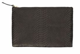 Python Flat Clutch (Embossed with Monogram)