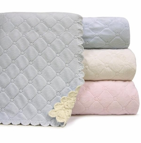 """Quilted Plush Baby Blanket - 30""""x40"""""""
