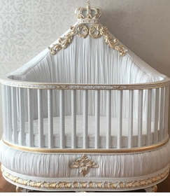 upholstered regal crown crib
