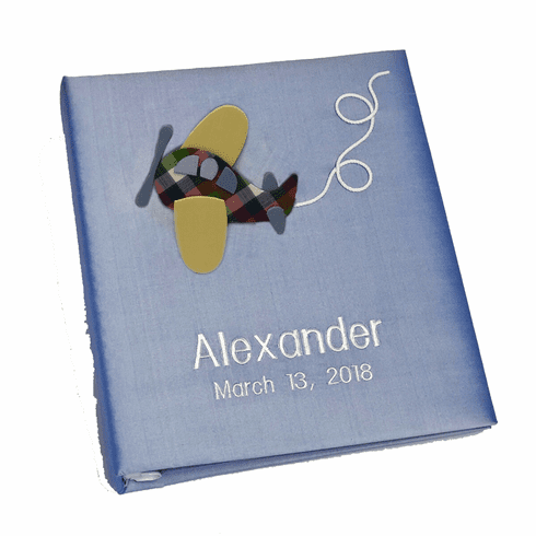 Airplane Personalized Baby Memory Book