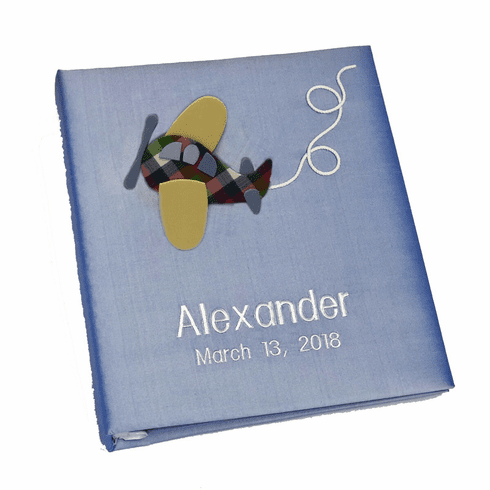 Airplane Personalized Baby Photo Album - Large - Ring Bound