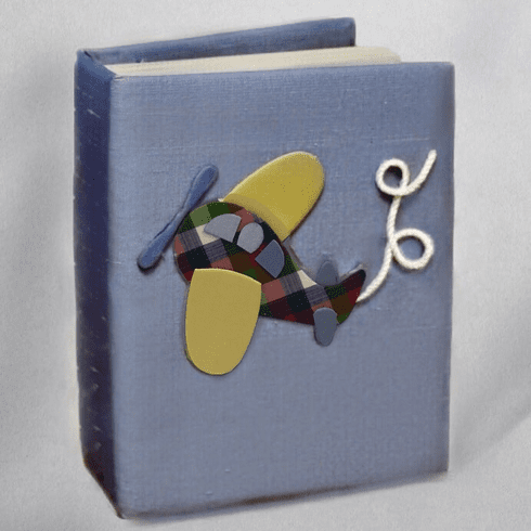 Airplane Personalized Baby Photo Album - Small