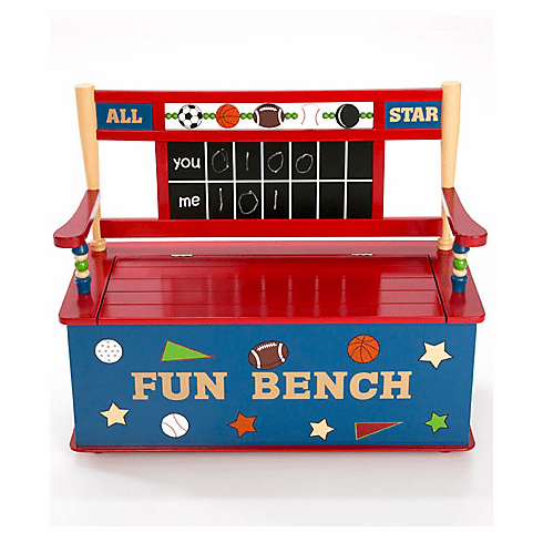 All Star Sports<br>Child Toy Box Bench