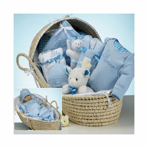 Baby Deluxe Moses Prince Gift Basket for Boy