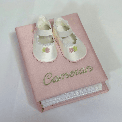 Baby Shoes Personalized Baby Photo Album - Small
