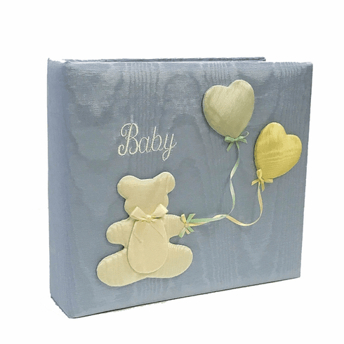 Bear & Balloons Personalized Baby Photo Album - Medium