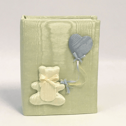 Bear & Balloons Personalized Baby Photo Album - Small
