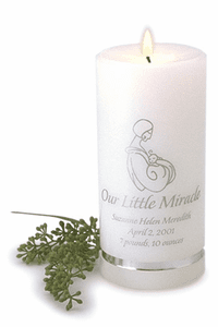 Birth Announcement Personalized Candles