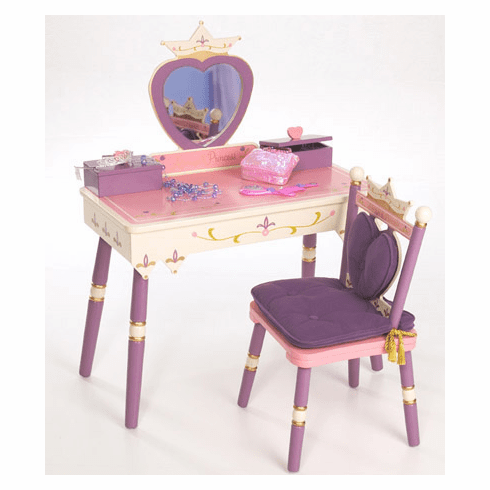 Child Princess Vanity Table & Chair Set