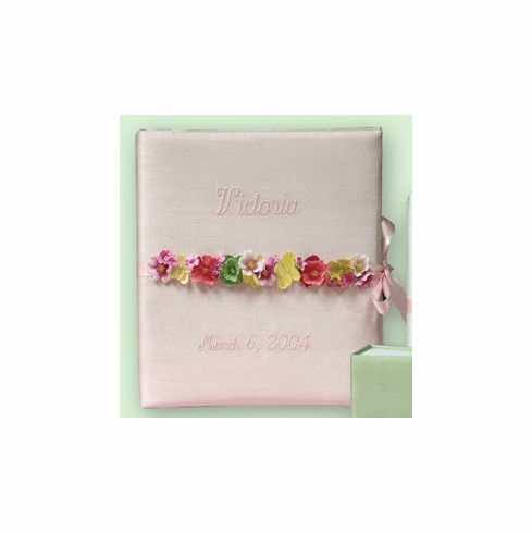 Flower Garland Personalized Baby Memory Book