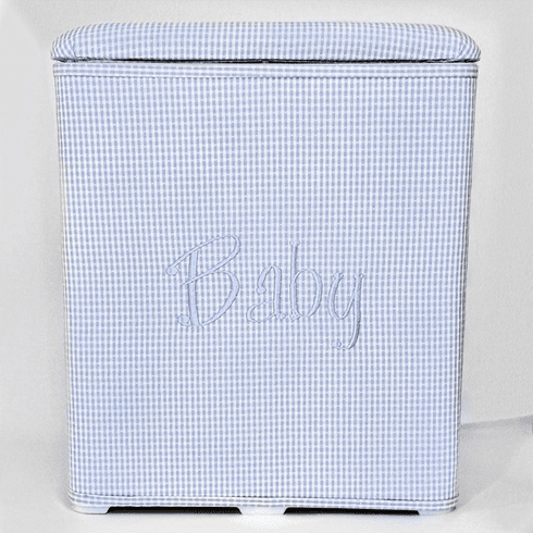 Gingham Check Personalized Baby Hamper