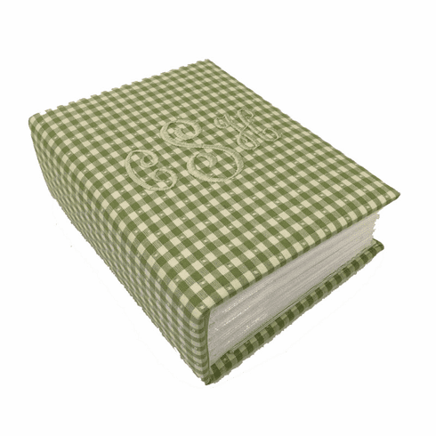 Gingham Check Personalized Baby Photo Album - Small