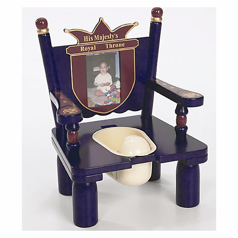 His Majesty's Prince Throne Child Wooden Potty Training Chair