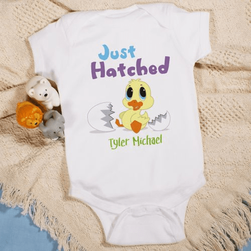 Just Hatched Personalized Baby Romper
