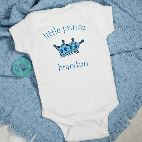 Little Prince Personalized Baby Romper