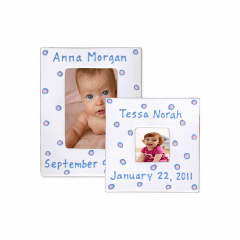 Personalized Baby Dot Dishware - Blossom Pink Frame