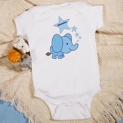Personalized Baby Elephant Romper