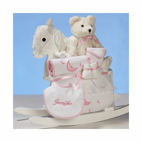 Personalized Baby Rocking Horse for Girl