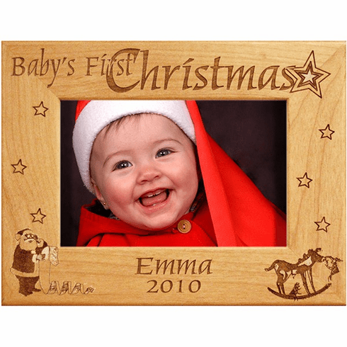 Personalized First Christmas Frame
