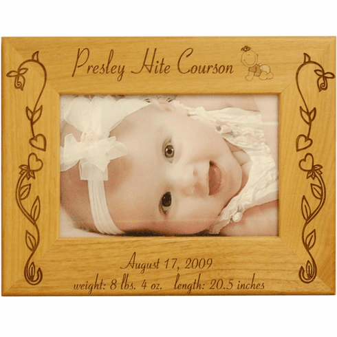 Personalized Flower Baby Frame