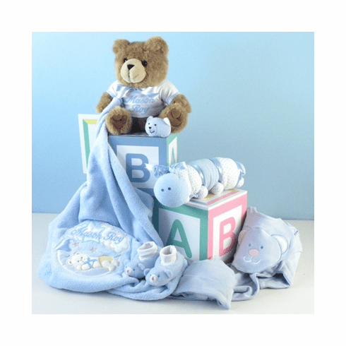 "Personalized ""Home From The Hospital"" Baby Gift Set (Boy)"