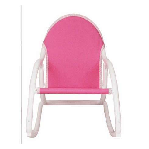 Personalized Hoohobbers Folding Rocking Chair - Pink (Canvas)