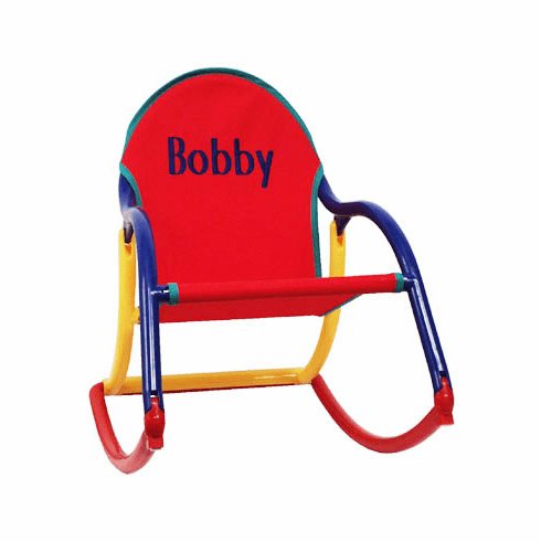 Personalized Hoohobbers Folding <br>Rocking Chair - Primary (Canvas)