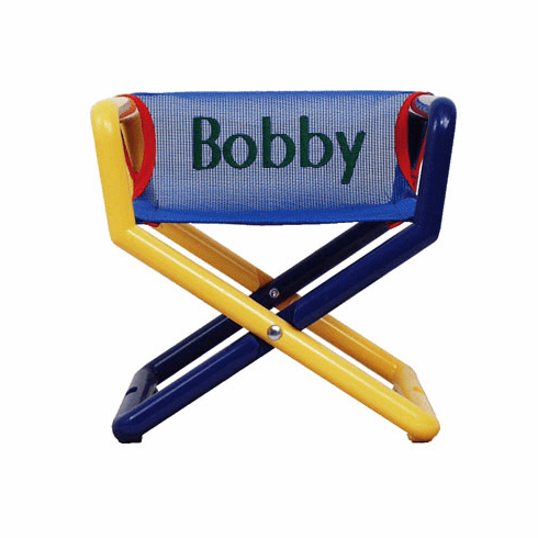 Personalized Hoohobbers Jr. Director's Chair/Booster - Blue (Mesh)