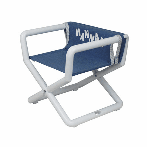 Personalized Hoohobbers Jr. Director's Chair/Booster - Denim (Canvas)