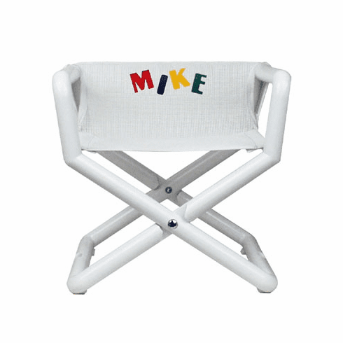 Personalized Hoohobbers Jr. Director's Chair/Booster - White (Mesh)