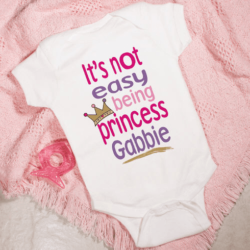 Princess Personalized Baby Romper