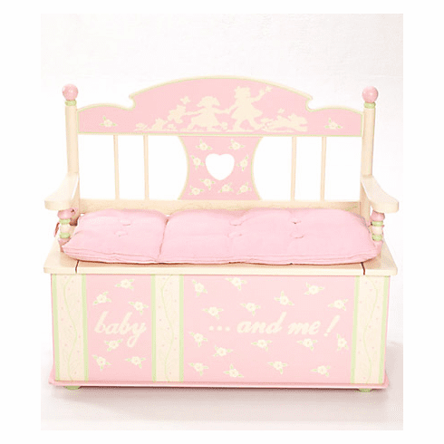 Rock-A-My-Baby Child Toy Box Bench