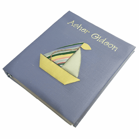 Sailboat Personalized Baby Memory Book