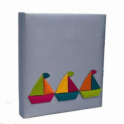 Sailboats Personalized Baby Memory Book