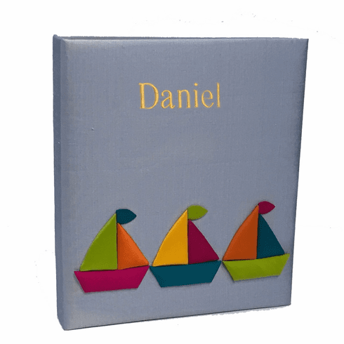 Sailboats Personalized Baby Photo Album - Large - Ring Bound