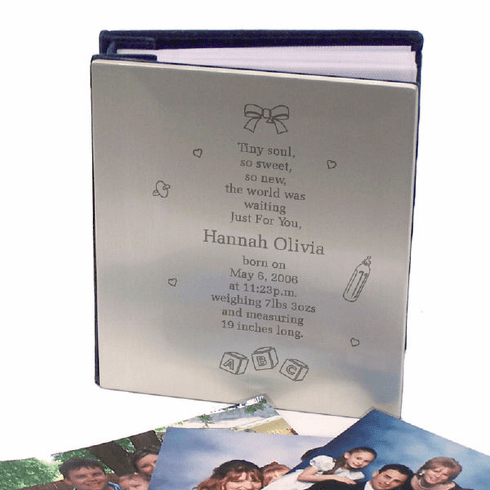 Tiny Soul Personalized Silver Baby Album