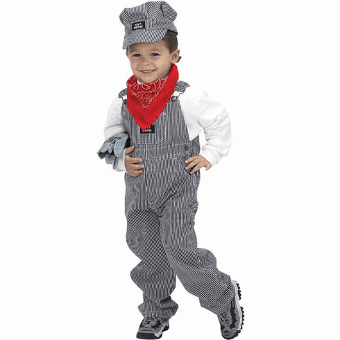 Toddler Train Engineer Costume with Hat