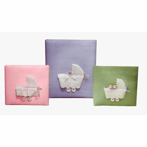 Twins in Buggy Personalized Baby Memory Book