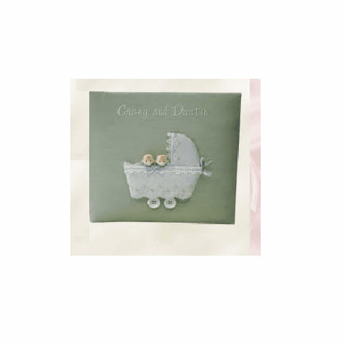 Twins in Buggy Personalized Baby Photo Album - Medium