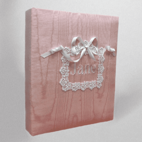 Venice Lace Personalized Baby Memory Book