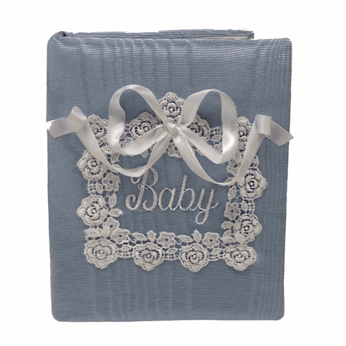 Venice Lace Personalized Baby Photo Album - Small