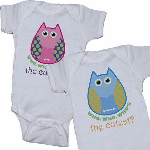 Who's the Cutest Personalized Owl Baby Romper