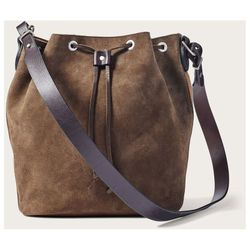 Click to enlarge image of Filson Rugged Suede Cross-Body Bucket Bag