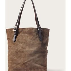 Click to enlarge image of Filson Tall Rugged Suede Tote Bag