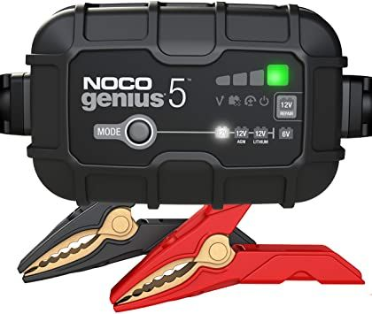 5-Amp Battery Charger, Battery Maintainer, and Battery Desulfator