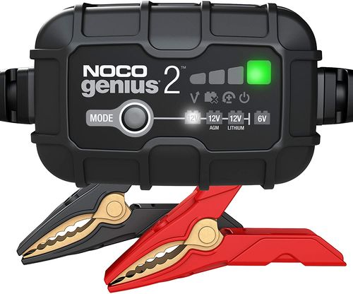 2-Amp Battery Charger, Battery Maintainer, and Battery Desulfator