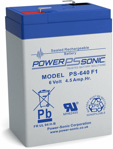 POWER-SONIC PS-640F1 6-Volt 4.5-AH